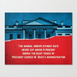 The Unemployment Rate Canvas Print