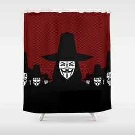 Million Mask March Shower Curtain