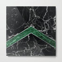 Arrows - Black Granite & Green Granite #269 Metal Print