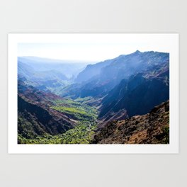 Kauai Canyon Art Print