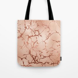 Modern abstract rose gold glitter stylish marble Tote Bag