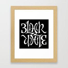 Black/White Framed Art Print