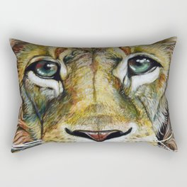 Lion Gaze Rectangular Pillow