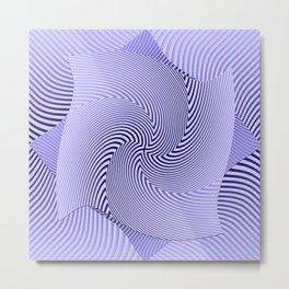 Twirled Stripes Metal Print
