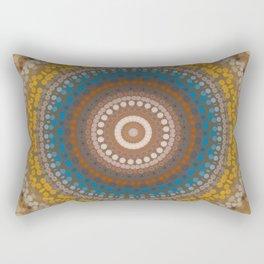 New Color Pyramidal Mandala 47 Rectangular Pillow