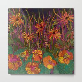 You Can Get By (Autumn Flowers) Metal Print