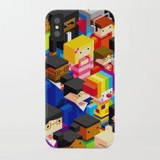 Pattern people iPhone X Slim Case