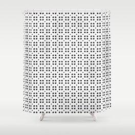 Floral Pattern (Black) Shower Curtain