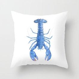 Blue Lobster Throw Pillow
