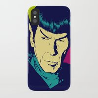 spock iPhone & iPod Cases featuring Spock Logic by Vee Ladwa