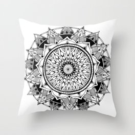 Depth - Mandala Throw Pillow