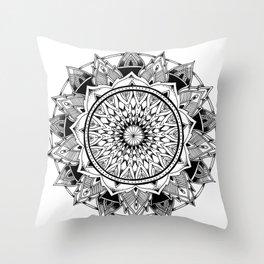 Depth - Mandala Throw Pillow
