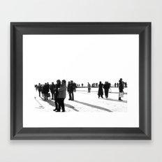 Curious at Dusseldorf Framed Art Print