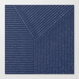 Lines (Navy) Canvas Print