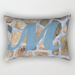 Monogram M Rectangular Pillow