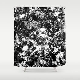 Bad Memories - black and white abstract painting Shower Curtain