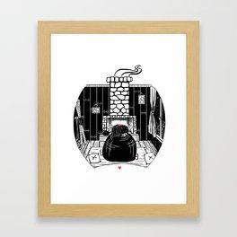 You keep me warm II Framed Art Print