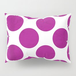 Fuchsia Polka Dot Pillow Sham