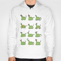 dinosaurs Hoodies featuring Hooray! Dinosaurs! by The Dapper Jackalope