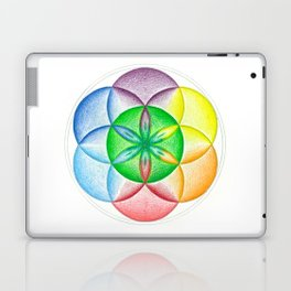 The Seed of Life - The Rainbow Tribe Collection Laptop & iPad Skin