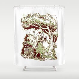 Intersectional Nature Shower Curtain