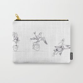 Funny sketch : Stork on a jar (or aquarius sign) Carry-All Pouch