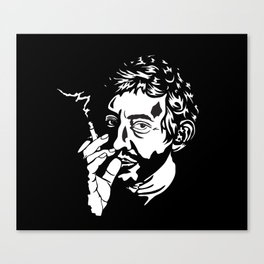 Serge Gainsbourg monochrome print. Canvas Print