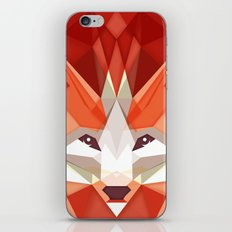 the glaring fox iPhone & iPod Skin