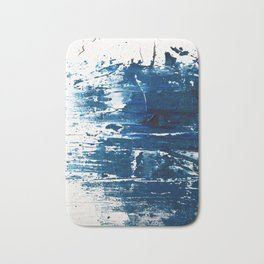 Tranquil: a minimal, abstract piece in blue by Alyssa Hamilton Art Bath Mat