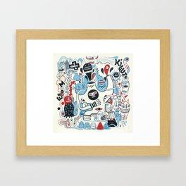La montagne Kifume  Framed Art Print