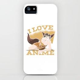 Japan Japanese Gamer Otaku Manga Cosplay Gaming Gift I Love Anime iPhone Case