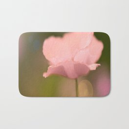 Dreamy Pink Poppy #decor #buyart #society6 Bath Mat