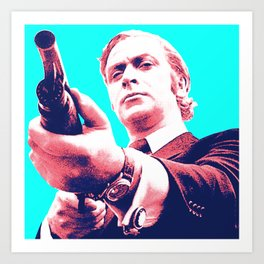 Fathers Day - Michael Caine screen print Art Print