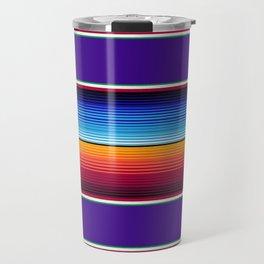Traditional Mexican Serape in Purple Travel Mug