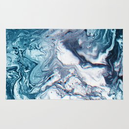 Real Marble Glitch Pattern Rug