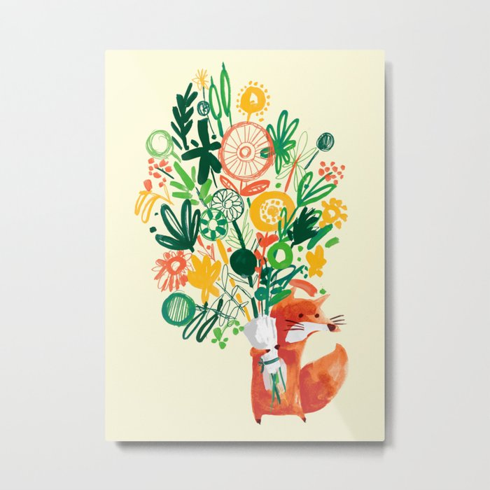Flower Delivery Metal Print