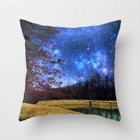 battlestar galactica Throw Pillows featuring Reservoir Galactica  by DeLayne