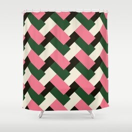 Crooked Tiles 32 Shower Curtain