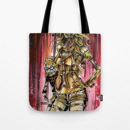 Zombie Ventriloquist Girl Tote Bag