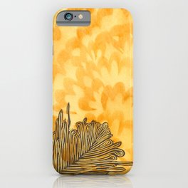 Golden Plume iPhone Case