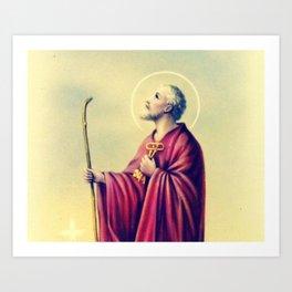 San Pedro | Saint Pedro | Catholic | Estampa | Holy Card Art Print