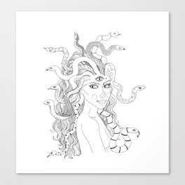 Medusa lets her snakes down Canvas Print