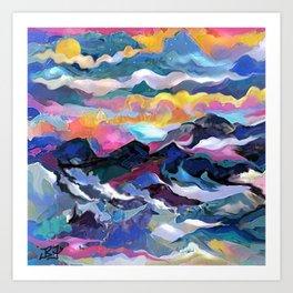 Montain Sunrise Art Print