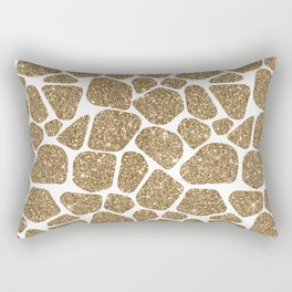 Glitter Giraffe Animal Print Pattern Rectangular Pillow