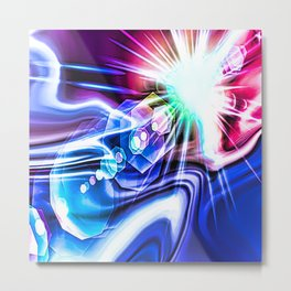 The birth of a star abstract painting Metal Print