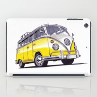 volkswagen iPad Cases featuring Volkswagen T1  by BSJC Automotive Art