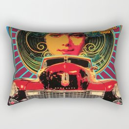 Vintage-Music Art - Fleet-wood-Mac In Concert-1969 At-Fillmore-East Rectangular Pillow