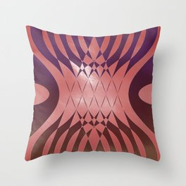 Angry Symmetry - Red Throw Pillow
