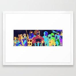 M A R V E L Framed Art Print