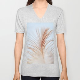 FEATHER cream look - animal colletion Unisex V-Neck